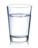 Glass with water isolated. Vector illustration poster