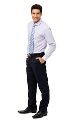 Attractive Businessman With Hands In Pockets