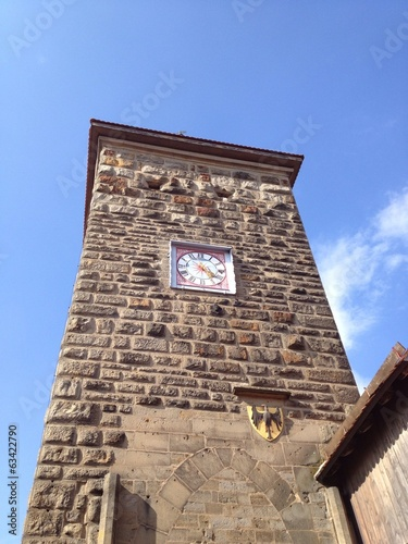 The clock tower in Rothenburg