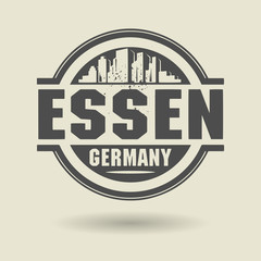 Stamp or label with text Essen, Germany inside, vector
