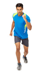 Determined Male Athlete Running
