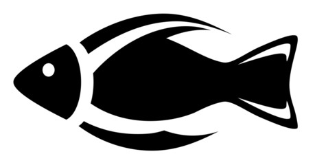 isolated icon - fish symbol