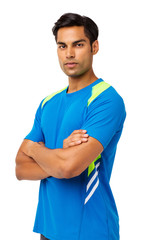 Confident Young Man In Sports Clothing