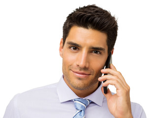 Confident Businessman Using Smart Phone