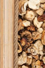 mushroom, mat and rope for the menu