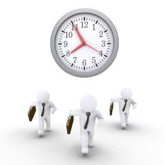 Businessmen race against time