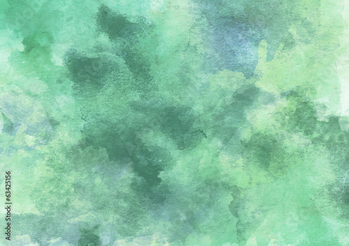 Beautiful Green Spring Watercolor Background
