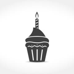 Birthday Cupcake Icon