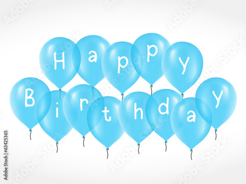 Balloons with Birthday Greetings