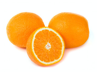 Orange and lemon fruit background