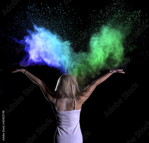 Colour Powder Photo shoot