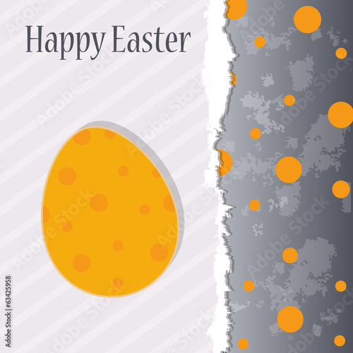 Grunge Easter greeting template