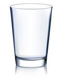 Empty glass non transparent. Vector illustration