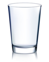 Empty glass non transparent. Vector illustration