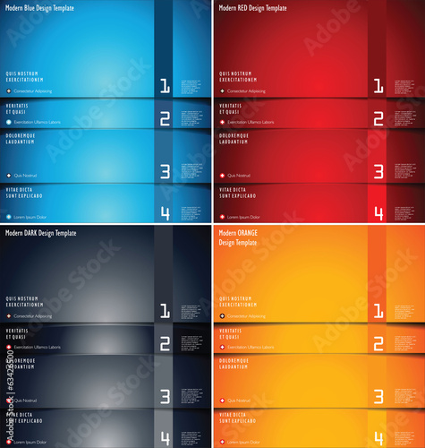 Modern design background collection
