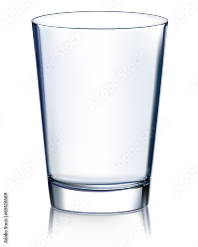 Empty glass non transparent. Vector illustration - 63426569