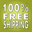 100 percent freeshipping sign on fresh green background