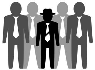 team businessmans and leader