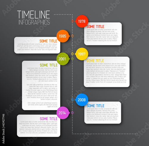 Dark Infographic timeline report template