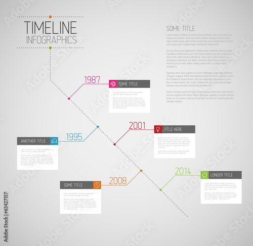 Infographic diagonal timeline report template