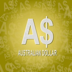Australia Dollar sign background