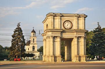 Kishinev. Arch of Victory Moldova. Кишинев. Арка Победы