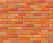 Seamless vector brick wall - background pattern