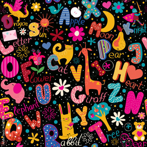 "Seamless pattern ""Colorful alphabet"""