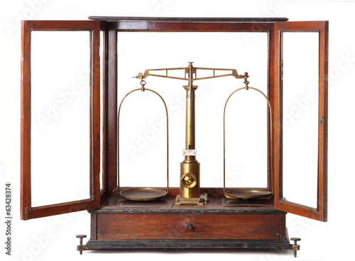 Weighing stsale vintage isolated on white background
