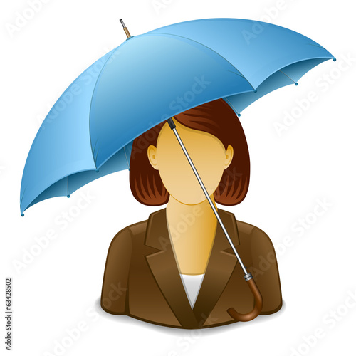 Businesswoman under Umbrella