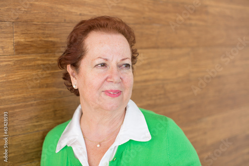 Attractive thoughtful senior woman