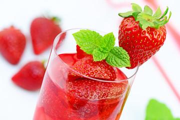 Cocktail,Erdbeeren