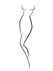 Abstract female body contour
