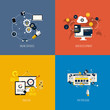 Icons foronline services, web development, analysis and pay per