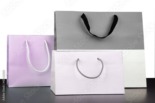 Three shopping bags.