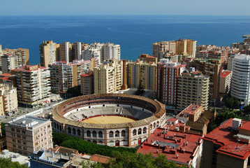 Málaga, Plaza de toros, La Malagueta, panorámica