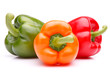 Leinwandbild Motiv Sweet bell pepper isolated on white background cutout