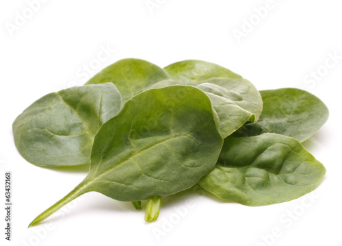 Spinach vegetables   cutout