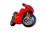 Motor cycle llustration color isolated art - 63432598
