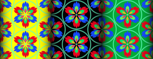 Fire colorful pattern