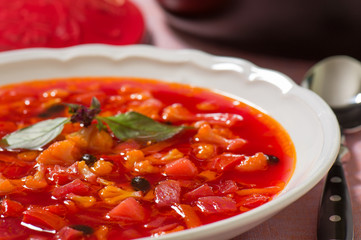 Сold vegetable soup