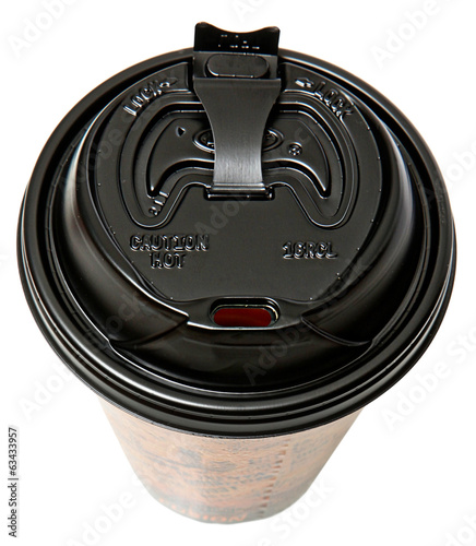 Disposable To Go Coffee Cup with Open Lid
