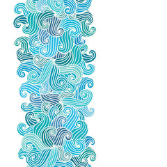 Hand drawn wavy background.
