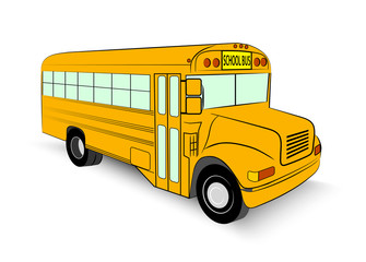 school bus in vector illustration