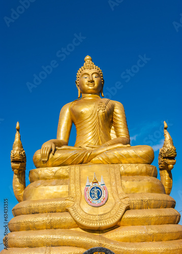 12 meters high Big Buddha Image, made of 22 tons of brass in Phu