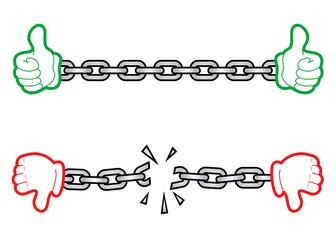 Hand chain icon