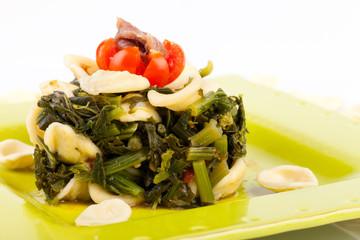 Italian Pasta - Orecchiette With Turnip Top