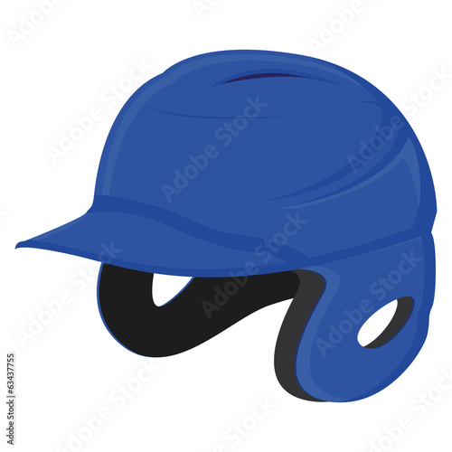 Vector Baseball Helmet Isolated On White Background
