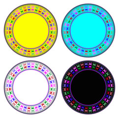 Crab colorful circle frame