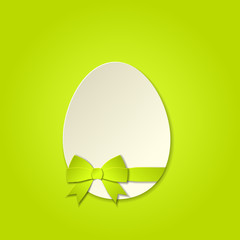 Easter egg with a bow, template vector